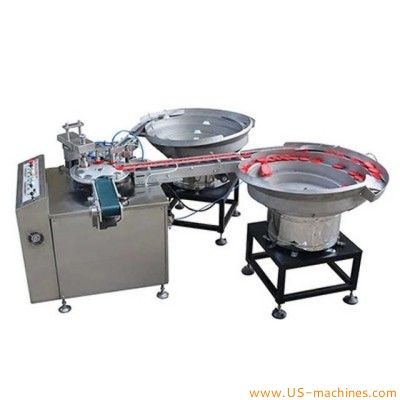 Food edible cooking oil big cap assembly machine oil bucket barrel pail drum tank cap assembling machine automatic
