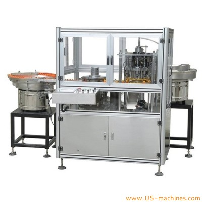 Automatic pointy rubber dropper cap assembly machine customized different cap assembling line