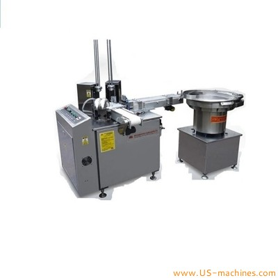 Cap vibrating bowl feeding can lining assembling machine cap alumiunm wad lining assembler machine