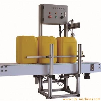 Automatic 3gallon 5gallon engine oil lubricate oil bottle barrel bucket pail tank leak testing machine leakage test single head machine