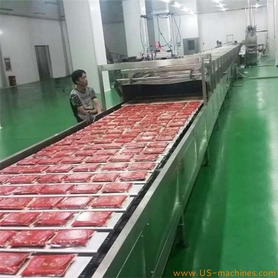 Automatic sauce bag paste bag sachet cream bag sticks cooling tunnel machine cooler machine for oil bags