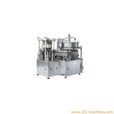 Automatic metal can aluminum tin rotary high speed filling sealing machine for carbonated drinks beer soda beverages