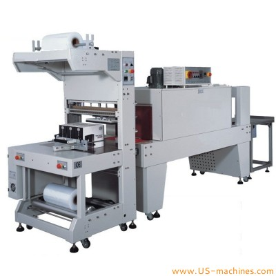 Semi automatic manual bottle placing bottle film wrapper shrinkable film sealing machine water bottle film wrapping shrinking packing equipment