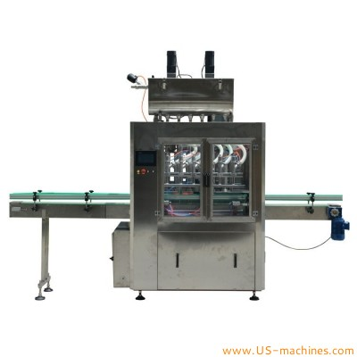 Automatic piston type liquid filling machine sauce filling packing line