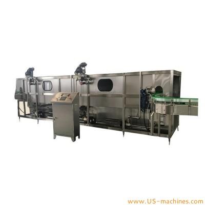 Spray sterilizer tunnel machine for juice milk brick bottle