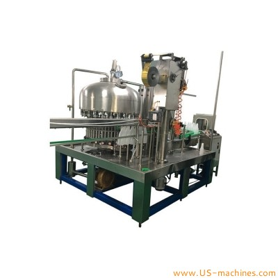 Automatic fresh milk bottle yogurt high speed rotary filling aluminum foil film wad pad sealing machine milk bottle continuous foil lid sealing line