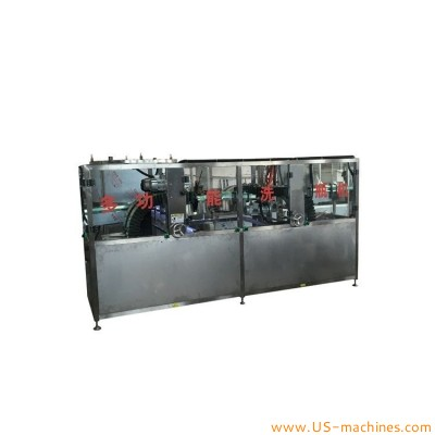 Automatic double conveyors clamping type bottle cleaning washing machine conveyor feeding washer cleaner line