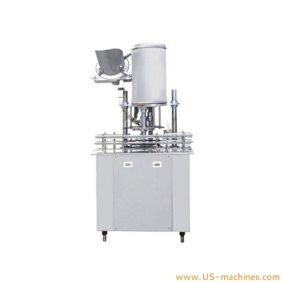 Single head automatic plastic cap feeding placing bottle capping machine rotary capper line with cap sorting feeder bowl