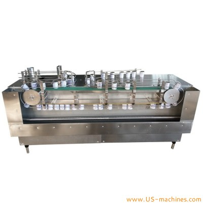 Automatic magnetic conveyor feeding metal can tin bottle up side down washing cleaning drying machine magnetic conveying washer dryer line