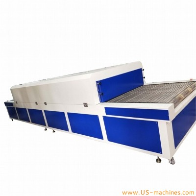 High temperature automatic infared ray drying tunnel oven machine dryer tunnel with conveyor for bottles jar can silicon parts products