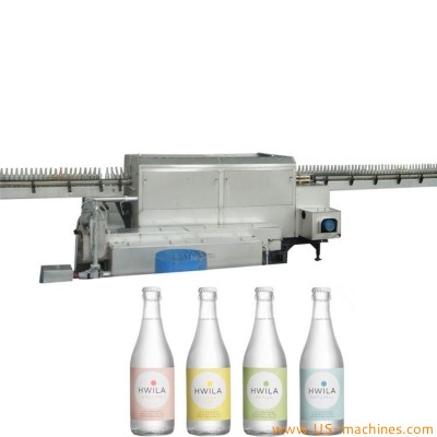 Automatic linear type recycle glass beer wine bottle washing machine bottle brushing washer equipment