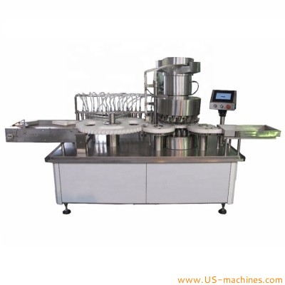 High speed 16 heads oral liquid glass bottle vials ampoul filling capping crimping machine fully automatic vials production packing line