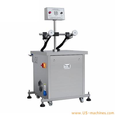 Semi automatic glass bottle air washing machine double nozzle manual bottle air washer rinsing machine