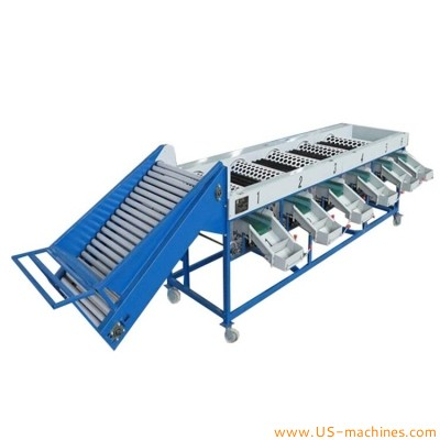 Stainless steel sifting hole conveyor eggs filter weigh check sorting machine automatic egg grader