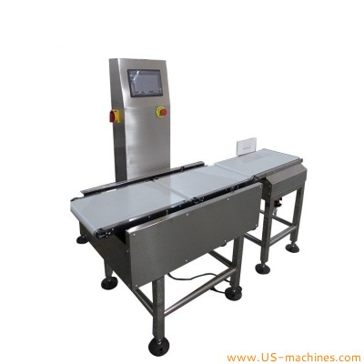 Automatic inline coveyor weight checker high speed automatic check weigher with sorting machine rejecting system for food cosmetic medical pharm