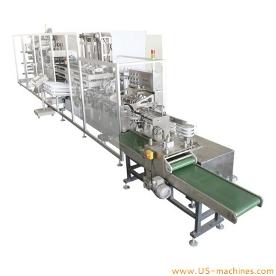 Automatic face mask horizontal high speed packing line cosmetic facial mask folding bagging line
