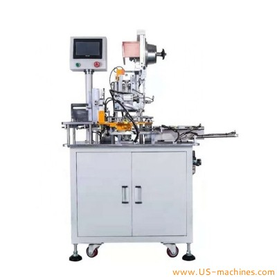 Automatic hangtag hole eyelet punching making machine paper card hangtag eyelet tag hole punching machine with card loading groove
