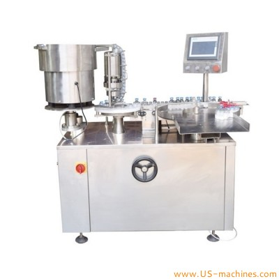 Automatic rotary dual conveyors glass vials aluminum lid crimping mchine samll volume bottle aluminum cap crimpper with stopper feeder bowl