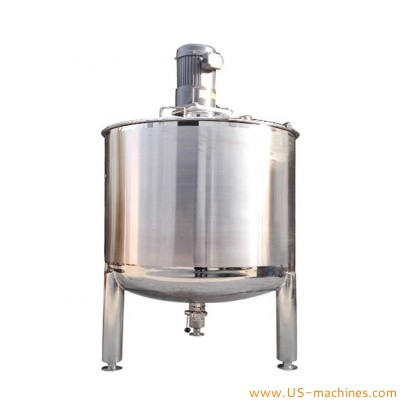 Food grade stainless steel mixing tank storage mixer blending tank with electric mixing motor for food cosmetic chemical liquid essential oil