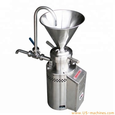 Food colloid mill grinder machine vertical colloid milling machine peanut butter cocoa nut processing colloid millimg equipment