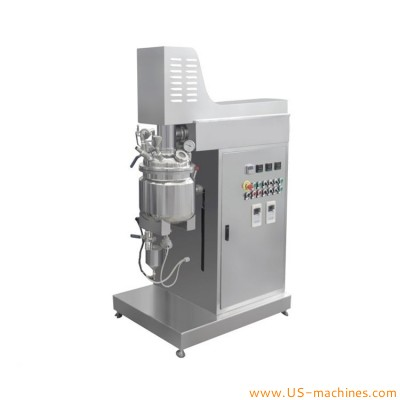 Laboratory 10L vacuum homogenizing emulsifying tank lab mixer homogenizer 10L Stainless Steel Vacuum emulsifying machine for cosmetic Ointment cream