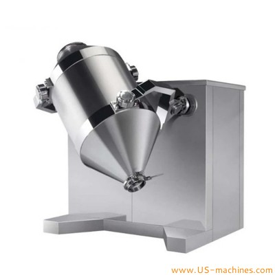 Automatic powder 3D mixing machine rotary three dimensional swing motion powder milk spics mixing blending tank for food chemical pharm industrials