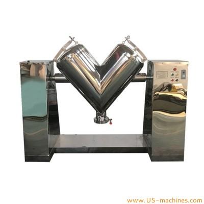 V type powder mixing machine horizontal electric V-shaped blender granules powder particles grains dry powder making mixer equipment