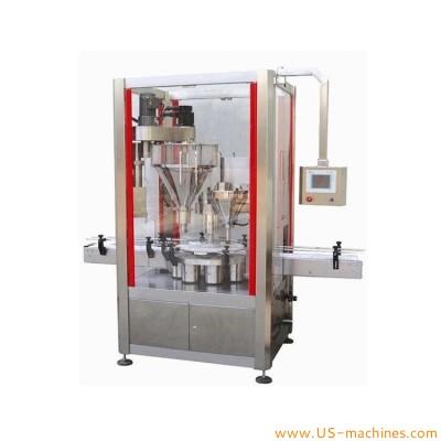 Automatic metal tin can bottle powder washing sterilizing filling vacuum sealing packing line