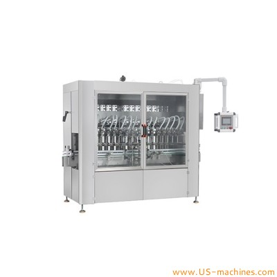 Automatic 8 heads thick high viscosity material cream paste jam honey filling machine linear food bottle jar can piston cylinder filler