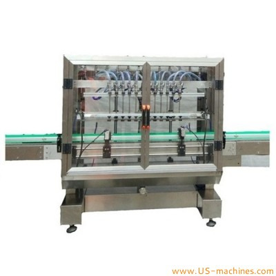 Fully automatic 12 nozzles linear type wine liquor water juice bottle filling machine 12 heads filler line