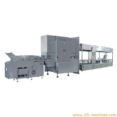 Pharmaceutical liquid glass vail filling sealing machine high speed sterilizing drying filling sealing capping machine