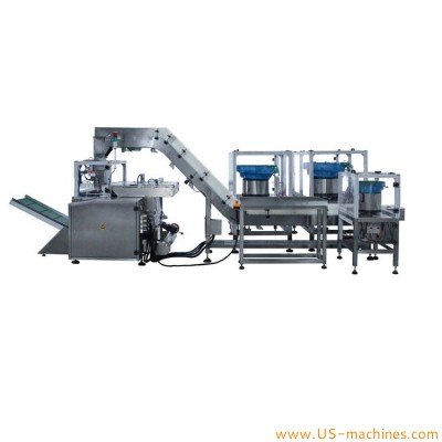 Large width PE film roll cutter automatic vertical filling sealing packing machine for hardware metal rubber plastic parts accessories