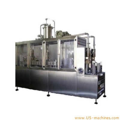 Semi automatic red wine gable top brick carton manual loading filling sealing capping machine for Milk beverage juice tea drink Cereal liquid