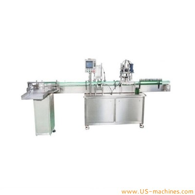 Automatic 4 nozzles essential oil liquid E juice 30ml bottle filling rotary dropper cap capping machine e oil packing line