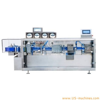 PVC PE PET oral ampoule customized shape forming liquid filling sealing machine automatic BFS equipment for olive oil harmaceutical herbal liquid