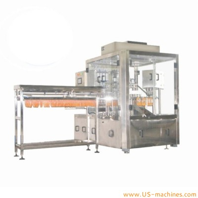 Automatic single nozzle premade bag pouch filling capping machine for liquid food drinks fruit juice milk detergent beverage stand up bag