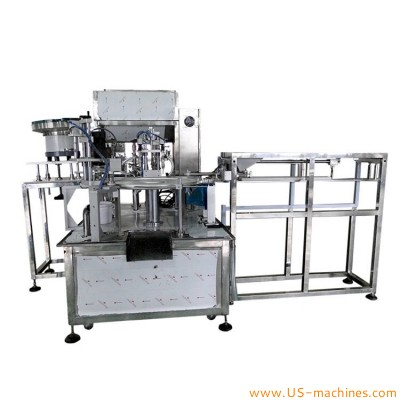 Automatic 2 heads stand up bag premade pouch rotary liquid jelly milk butter fruit juices paste chemical liquid filling capping machine