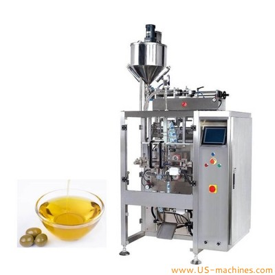 Automatic olive coconut edible oil bag liquid sachet filling sealing packaging machine veritical forming filling bagging machine
