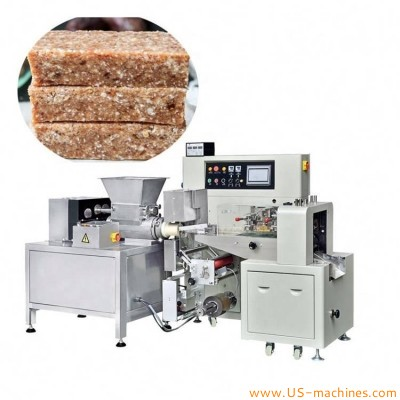 Automatic protein chocolate bar candy extruder cutter horizontal bag flow packaging machine