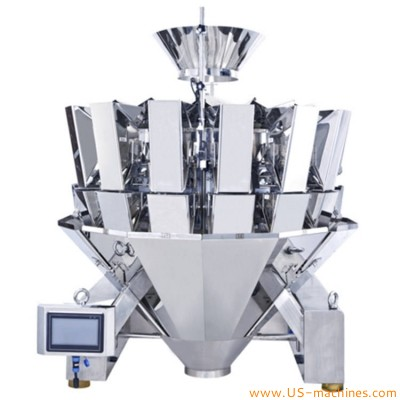 14 weighing heads machine multi heads automatic weigher for grains bean pet food frozen seafood hardware plastic parts candy dried fruit seed
