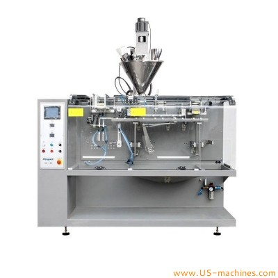 Horizontal type caffee powder flour washing fruit powder bag pouch automatic filling sealing machine for premade bag doypack equipment