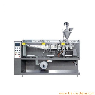 Automatic single head powder granule horizontal bag forming filling sealing packaging machine with auger filler system
