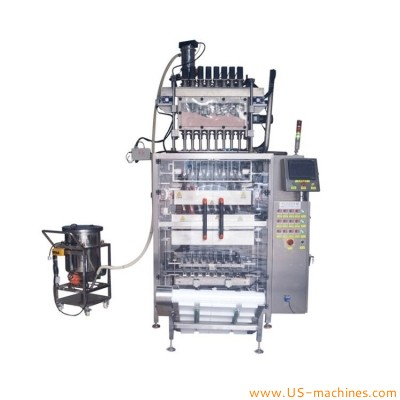 Automatic 8 lanes wheat powder sachet bag filling sealing packing machine for milk powder flour spices chilli powder