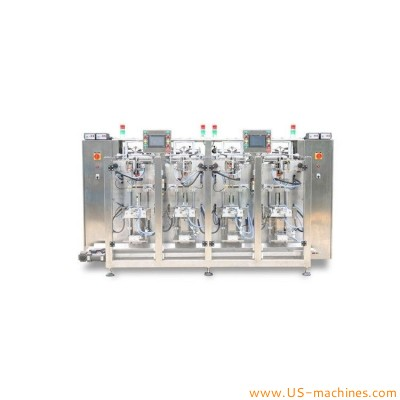 Automatic individual 4 auger filling heads powder bag sachet filling sealing packaging machine 4 station vertical form fill seal equipment