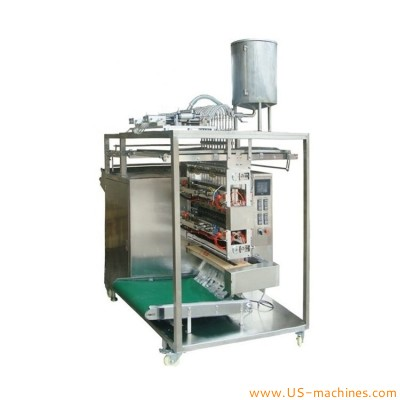 Automatic hotel shampoo linking pouch sachet bag 6 lines filling sealing machine 6 lanes liquid bagging equipment