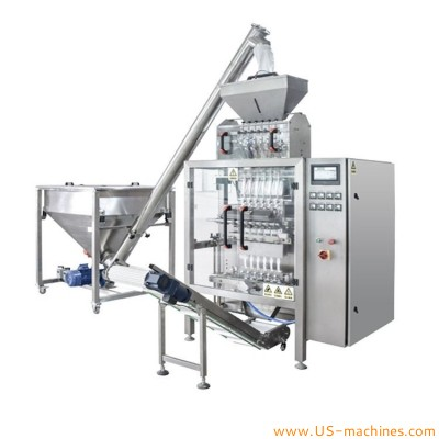 Automatic 6 lanes oil sauce honey stick medicine health care water liquid veritcal bag sachet filling sealing packaging machine multi lanes