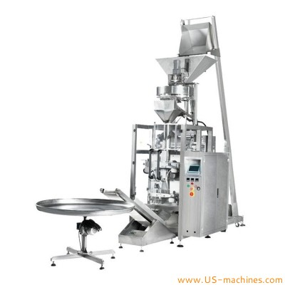 Automatic 2/4 heads linear weighing automatic candy puffed food nuts pet food fruipowder hardware cup dosing filling sealing packing machine