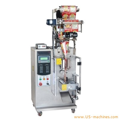 Automatic bag forming filling sealing packaging machine with screw auger filler for powderinstant fruit drink grind coffee milk powder coffee spices flavor sugar