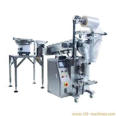 Automatic customized bucket chain conveyor manual feeding multi function hardware tea dry fruit bag filling sealing packaging machine