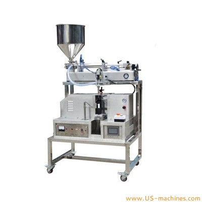 Manual soft tube filling ultrasonic sealing machine semi automatic cosmetic cream paste lipgloss soft laminated tube filler sealing machine